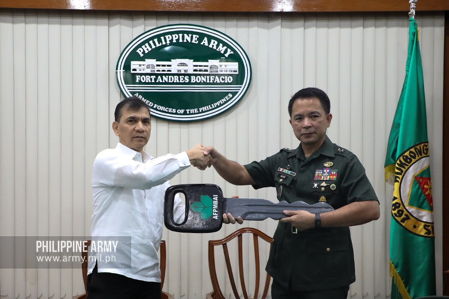 Army receives patrol cars, computers from AFPMBAI