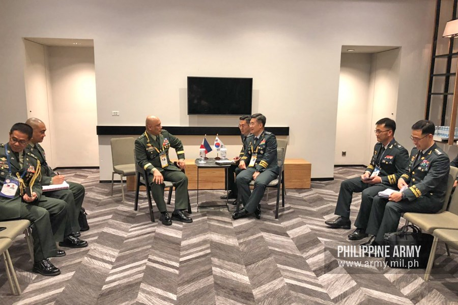 Phillipine, Korean armies see the need for cooperation and training exchanges on counter-terrorism, HADR