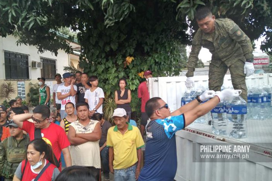 Army sends personnel, trucks for relief operations